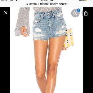 Lovers+friends jack high waist shorts